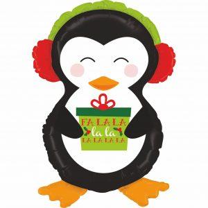Ballon Aluminium 34″ Holiday Penguin – Grabo