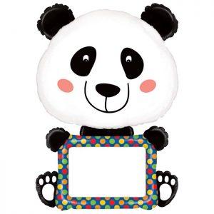 Ballon Aluminium 48″ ReMARKables Panda + Feutre – Grabo