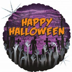 Ballon Aluminium 18″ Zombie Halloween – Grabo