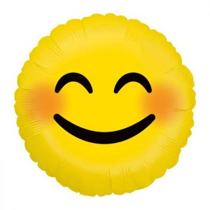 Ballon Aluminium 18″ Emoji Smiley – Grabo