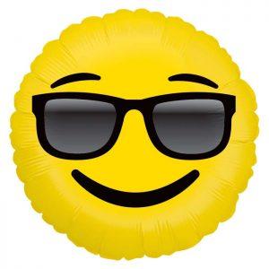 Ballon Aluminium 18″ Emoji Sunglasses – Grabo