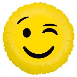 Ballon Aluminium 18″ Emoji Wink – Grabo