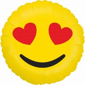 Ballon Aluminium 18″ Emoji Hearts – Grabo