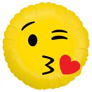 Ballon Aluminium 18″ Emoji Kiss – Grabo