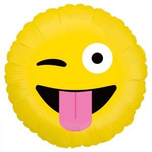 Ballon Aluminium 18″ Emoji Wacky – Grabo