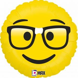 Ballon Aluminium 18″ Emoji Nerd – Grabo