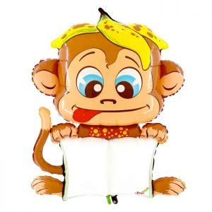 Ballon Aluminium 47″ B-Pad Cheeky Monkey – Grabo