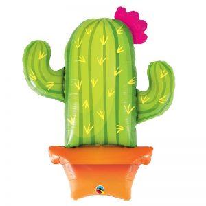 """Ballon Aluminium 39"""" - Potted Cactus - Qualatex"""