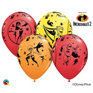 "6 Ballons Latex  11"" - DNPX Les Indestructibles 2 - Qualatex"