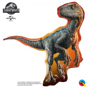 "Ballon Aluminium 38"" - Jurassic World : Raptor - Qualatex"