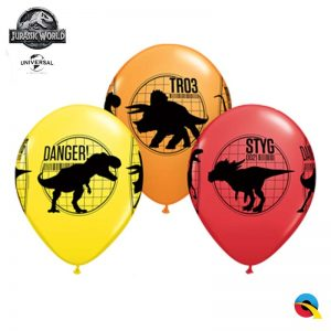 "6 Ballons Latex 11"" - Jurassic World : Fallen Kingdom - Qualatex"