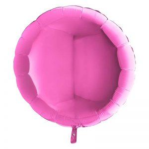 Ballon Aluminium 18″ Rond Fuchsia – Grabo