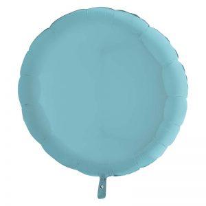 Ballon Aluminium 18″ Rond Pastel Bleu – Grabo