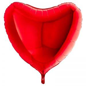 Ballon Aluminium 18″ Cœur Rouge – Grabo