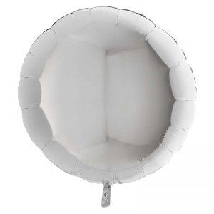 Ballon Aluminium 18″ Rond Argent – Grabo