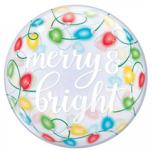 """Bubble 22"""" Merry & Bright"""