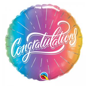 """18"""" Congratulations Vibrant Ombre"""