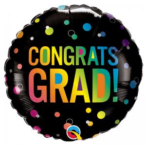 Congrats Grad Ombre Dots