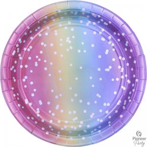 Assiettes Rainbow Ombre