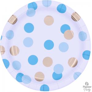 Assiettes Blue & Gold Dots
