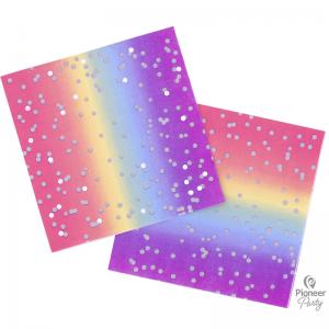 Serviettes Rainbow Ombre