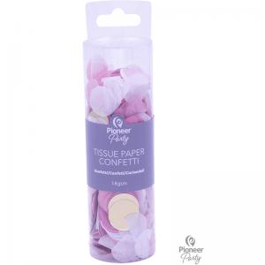 Confetti Pink White & Gold