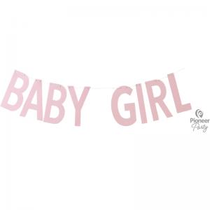 Banner Baby Girl Pink