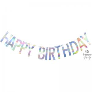 Banner Happy Birthday Iridescent