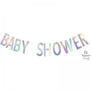 Banner Baby Shower Iridescent