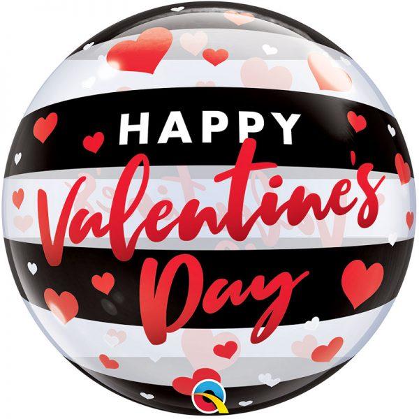 Valentine's Day Black Stripes