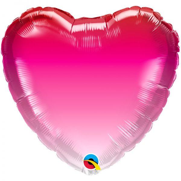 """Ballon Aluminium 18"""" Pink Ombre"""