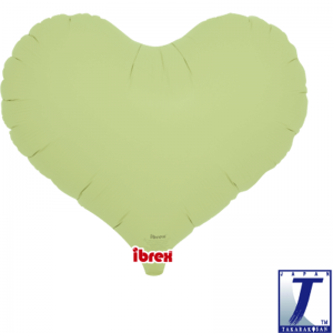 "Jelly Heart 14"" Pastel Green"