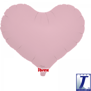 """Jelly Heart 14"""" Pastel Pink"""