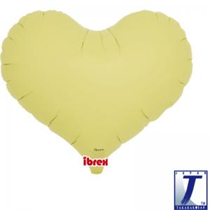 "Jelly Heart 14"" Pastel Yellow"