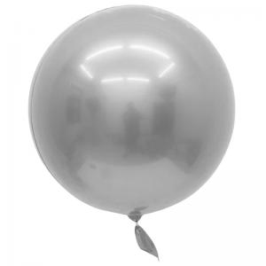 """Bobo Ballon 32"""" Chrome Argent"""