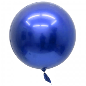 "Bobo Ballon 18"" Chrome Bleu"