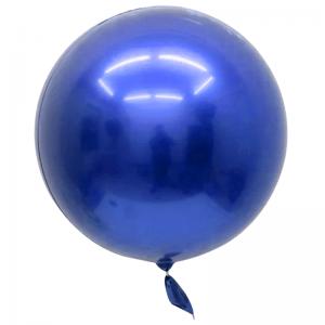 """Bobo Ballon 32"""" Chrome Bleu"""