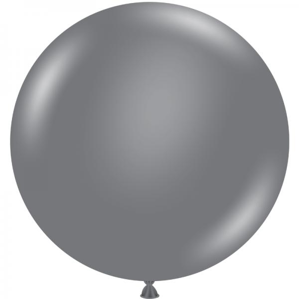 """Ballon 24"""" Gray Smoke"""