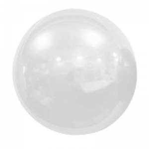 """Ballon Sphère 20"""" Blanc Miroir"""