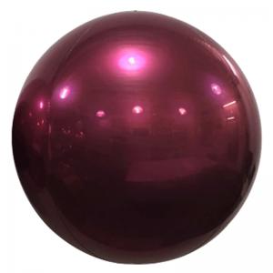 """Ballon Sphère 24"""" Bordeaux Miroir"""