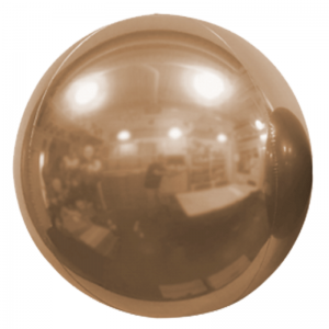 "Ballon Sphère 7"" Golden Rose Miroir"
